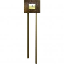 Звонок Zamel гонг трубный Тандем с накладкой Часы (дуб темный) GRS-941Т/М