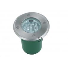 Светильник светодиодный грунтовый(тротуарный) Flesi G-MD100 - RGB 9 светодиодов, потребляемая мощность 9Вт, рабочее напряжение 12В