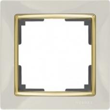 Рамка на 1 пост (слоновая кость/золото) Werkel WL03-Frame-01-ivory/GD