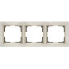 Рамка на 3 поста (слоновая кость/золото) Werkel WL03-Frame-03-ivory/GD