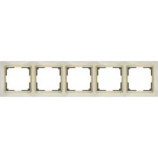 Рамка на 5 постов (слоновая кость/золото) Werkel WL03-Frame-05-ivory/GD