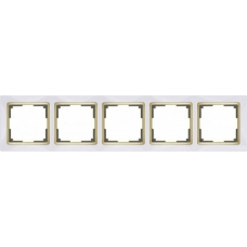 Рамка на 5 постов (белый/золото) Werkel WL03-Frame-05-white/GD