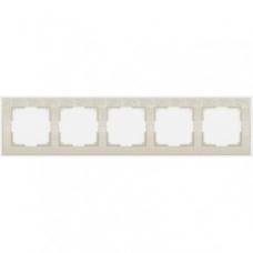 Рамка на 5 постов (слоновая кость) Werkel WL05-Frame-05-ivory