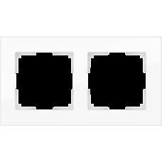 Рамка на 2 поста (белая,стекло) Werkel WL01-Frame-02
