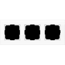 Рамка на 3 поста (белая,стекло) Werkel WL01-Frame-03