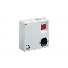 Настенный регулятор скорости вращения лопастей нереверсивных вентиляторов Vortice, 5 режимов, белый с черным и красным, 100W, IP20
