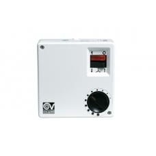 Настенный регулятор скорости вращения лопастей реверсивных вентиляторов Vortice, 5 режимов, белый с черным и красным, 100W, IP20
