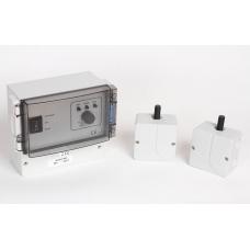 Настенный регулятор скорости вращения лопастей с датчиком температуры накладной Vortice Vort Delta, белый с черным, 6A, IP54