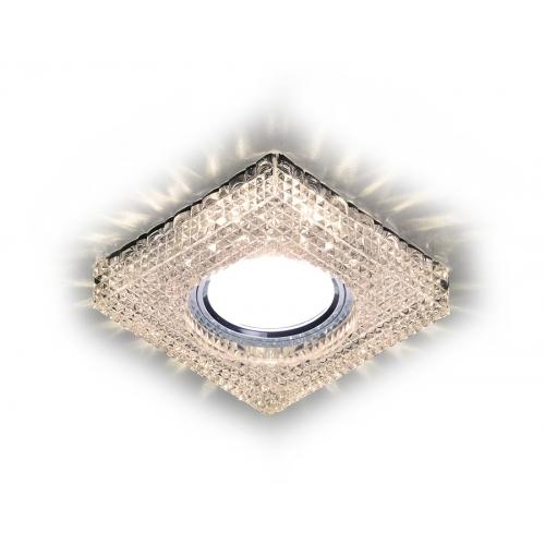 Встраиваемый точечный светильник со светодиодной лентой S272 CL/WW хром/прозрачный MR16+3W(LED WARM)
