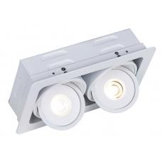 """Встраиваемый светильник """"кардан"""" светодиодный Arte Lamp A3007PL-2WH Studio"""