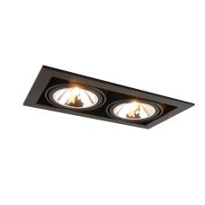 """Встраиваемый светильник """"кардан"""" Arte Lamp A5949PL-2BK черный"""