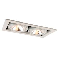 """Встраиваемый светильник """"кардан"""" Arte Lamp A5949PL-2WH белый"""