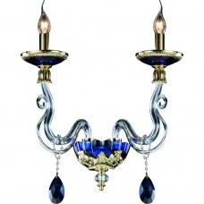 Бра Divinare 5125/11 AP-2 SIMONA Золото, голубой