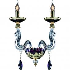 Бра Divinare 5125/12 AP-2 SIMONA Золото, пурпурный