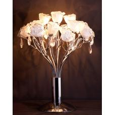 Настольная лампа хрустальная Eletto EL325T04.1 Rosa Bianco