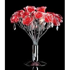 Настольная лампа хрустальная Eletto EL325T04.2 Rosa Rosso