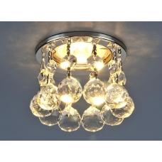 Встраиваемый декоративный светильник Elektrostandard 2051 50W G5.3 хром/прозрачный