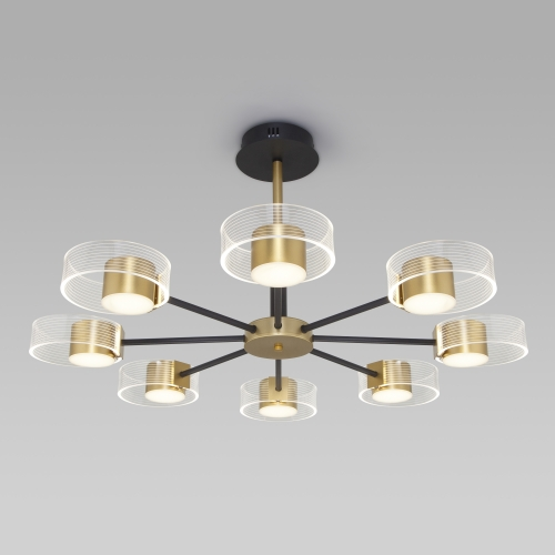 Потолочный светодиодный светильник 90244/8 черный/золото