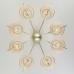 Потолочная люстра с абажурами 60093/8 перламутровое золото