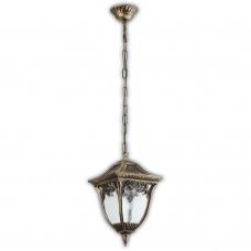 Подвесной уличный светильник Feron Афина PL4085 100W 230V E27 230*230*880мм черное золото 11491