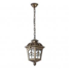 Подвесной уличный светильник Feron Рига PL4095 60W 230V E27 175*175*300мм, черное золото 11522