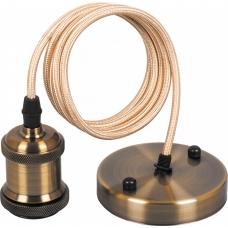 Патрон со шнуром Feron LH128 230V E27 длина шнура 1м черное золото (арт. 22363)