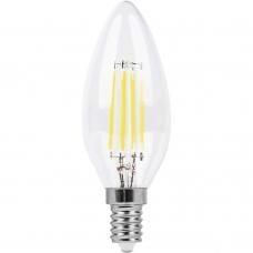 Лампа светодиодная Feron LB-66 7W 230V E14 2700K филамент C35 (арт. 25726)
