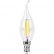 Лампа светодиодная Feron LB-67 7W 230V E14 2700K филамент C35T (арт. 25727)