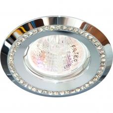 Точечный светильник Feron DL103-C MR16 50W G5.3 прозрачный, хром (арт. 28376)