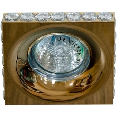 Точечный светильник Feron DL202-C MR16 50W G5.3 прозрачный, золото (арт. 28470)