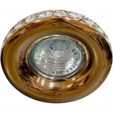 Точечный светильник Feron DL203-C MR16 50W G5.3 прозрачный, золото (арт. 28471)
