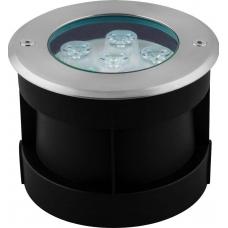 Тротуарный светодиодный светильник Feron SP4112 6LED теплый белый 6W 120*H90mm вн.ф 82mm IP67 32015