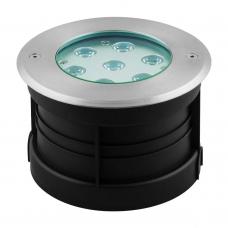 Тротуарный светодиодный светильник ЛЮКС Feron SP4314 7W RGB AC230V D160*H110 мм IP67 32070