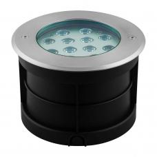Тротуарный светодиодный светильник ЛЮКС Feron SP4315 12W RGB AC230V D180*H120 мм IP67 32073