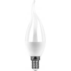 Лампа светодиодная Saffit SBC3707 7W 2700K 230V E14 C37T (арт. 55054)