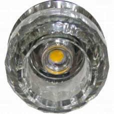 Светильник точечный светодиодный Feron JD176 10W 230V/50Hz 600 Lm прозрачный, хром 27823