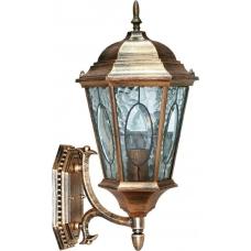 """Садово-парковый светильник """"Витраж"""" с овалом на стекле Feron PL150 Черное Золото"""
