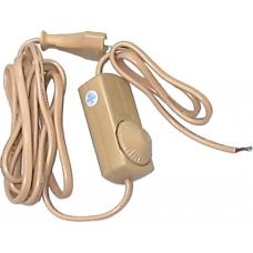 Сетевой шнур Feron DM103-200W 230V 1,5+0,5м (с диммером) белый