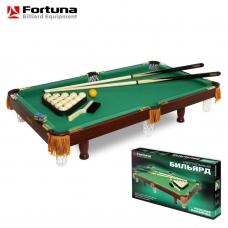 Бильярдный стол Fortuna русская пирамида 3фт с комплектом аксессуаров 4493