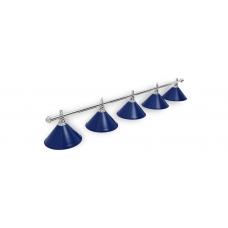 Светильник для бильярдного стола Prestige Silver Blue 5 плафона