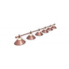Светильник для бильярдного стола Alison Red Bronze 6 плафона
