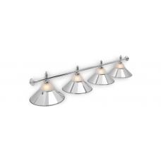 Светильник для бильярдного стола Alison Silver 4 плафона