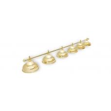 Светильник для бильярдного стола Crown Golden 6 плафона