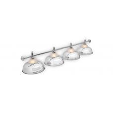 Светильник для бильярдного стола Crown Silver 4 плафона