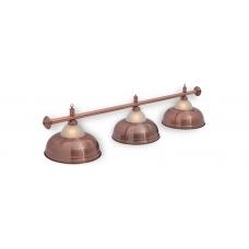Светильник для бильярдного стола Crown Red Bronze 3 плафона