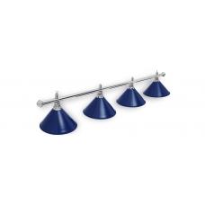 Светильник для бильярдного стола Prestige Silver Blue 4 плафона