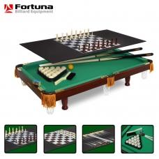 Бильярдный стол Fortuna русская пирамида 3фт 4 в 1 с комплектом аксессуаров 7737
