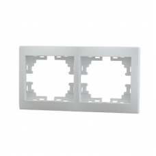 Рамка 2-ая (147х82х8,5 мм) горизонтальная Lezard Mira белая 701-0200-147&10;