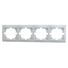 Рамка 4-ая (297х82х8,5 мм) горизонтальная Lezard Mira белый 701-0200-149