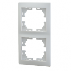 Рамка 2-ая (147х82х8,5 мм) вертикальная Lezard Mira белая 701-0200-152
